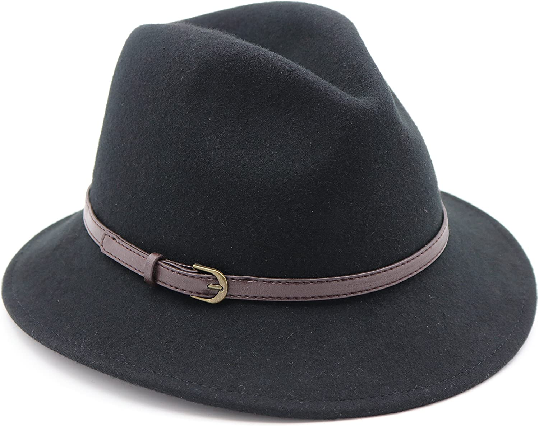 AccessHeadwear Alpas Ladie's Bonnie 100% Wool Felt Pinch Front Bucket Hat