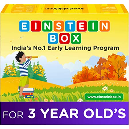 Einstein Box for 3 Year Old Kids | Toys for Kids 3 Years | Baby Boys & Girls, Learning and Educational Gift Pack of Toys, Games and Books, Apron | 3 Years All Toys
