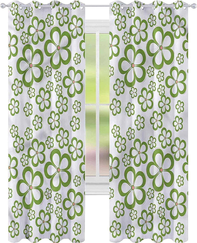 Window Curtain Drape Flower Daisy Charlotte Mall Max 57% OFF Floral L84 Garden x W42 Summer