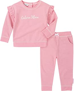 Calvin Klein baby-girls 2 Pieces Pants Sets