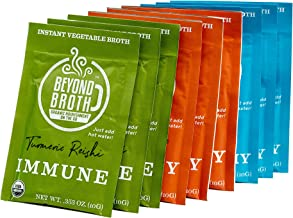 Beyond Broth - Instant Vegan Sipping Broth (Variety, 9 Pack) - Organic Vegetable Broth Powder For On The Go Or Cooking - Keto, Paleo, and Whole30 Friendly
