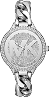 Michael Kors Women's Slim Runway Silver-Tone Watch MK3473