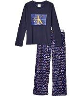 Two-Piece Set Long Sleeve Top w/ Cozy Pants (Little Kids/Big Kids)