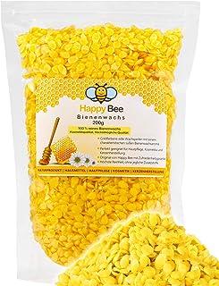 Promora 100% Reine Bienenwachs Pastillen - 200 Gramm - Perfekt geeignet für Naturkosmetik und Kerzen Herstellung