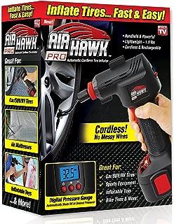 Air Hawk PRO Cordless Portable Air Compressor, Easy-To-Read Digital Pressure Gauge …