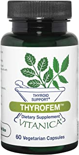 Vitanica ThyroFem, Thyroid Gland Support, Vegan, 60 Capsules