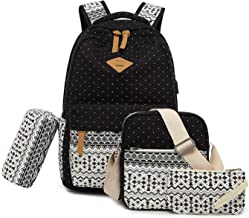 Vezela 4Pc Combo Of Laptop Bag With Usb Charging Feature With Lunch Bag, Pencil Case & Pouch (Black)