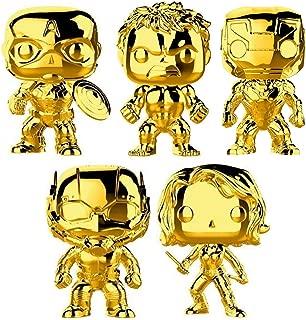 Funko Pop! Marvel: Marvel Studio 10 Gold Chrome Vinyl Figure Collection #1, 3.75