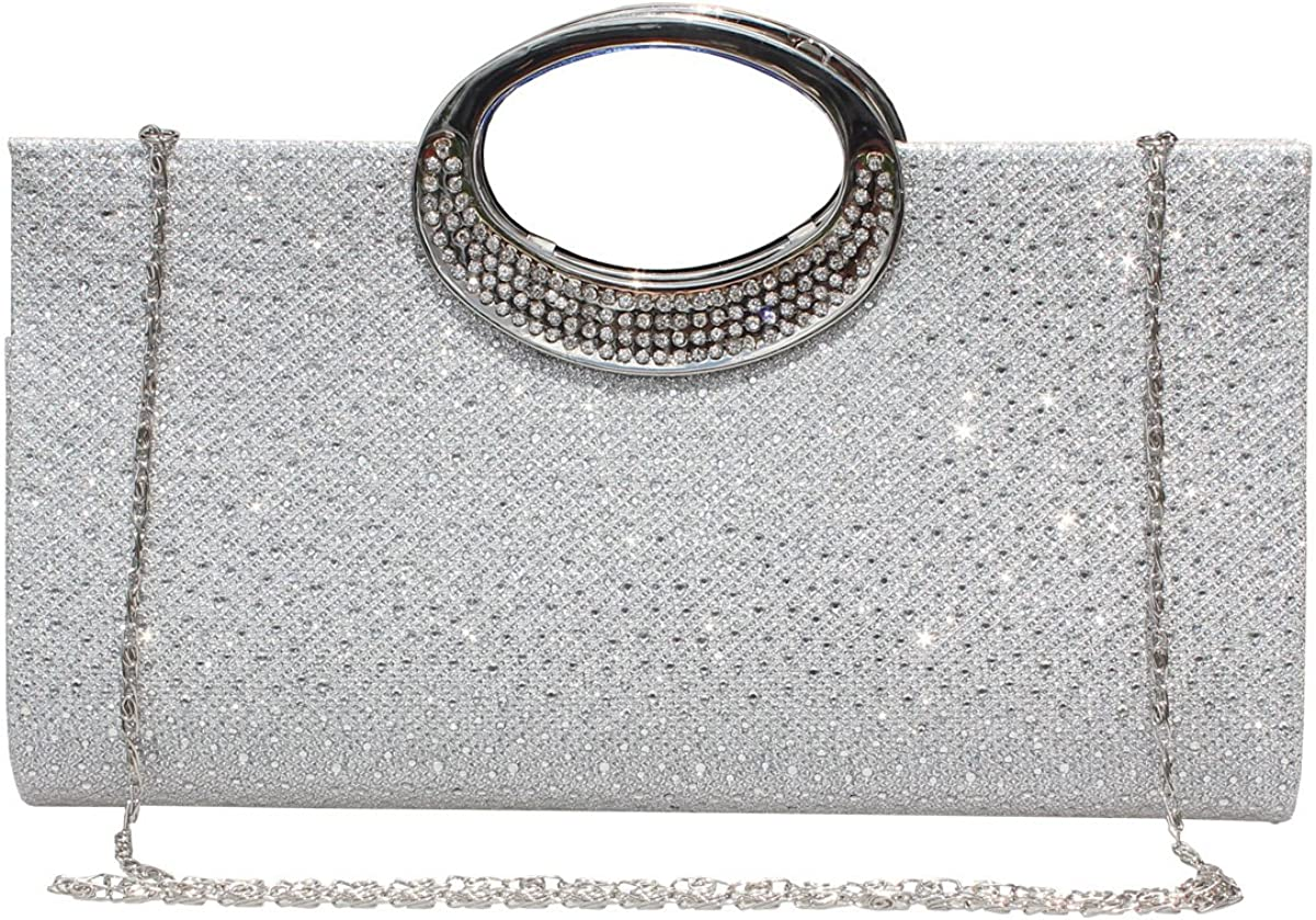 Labair Women Detroit Mall Rhinestone Clutch Purse Evening Crystal Over item handling ☆ Bag Handbag