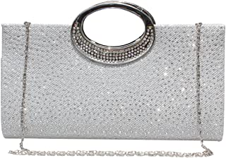 Womens Rhinestone Clutch Purse Handbag Crystal Evening Bag Wedding Party Prom Purse.