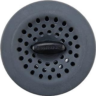 Farberware Soft Silicone Sink Strainer, Gray/Black