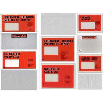 Dokumententaschen C5 Begleitpapiertaschen neutral Lieferscheintaschen 1000 Stk