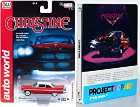 Stephen King Christine 1983 John Carpenter Steelbook Blu Ray + Christine 1958 Plymouth Fury Replica model car Horror Exclusive Movie Popart edition set