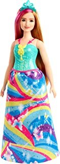 ​​Barbie Dreamtopia Princess Doll, Blonde with Pink Hairstreak