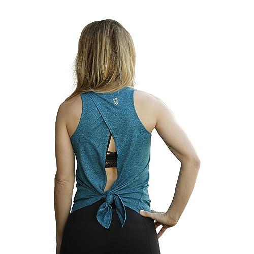 dadb643a6b59d MUV365 Women s Lightweight Open Back Workout Tank Top Yoga Sleeveless Shirt