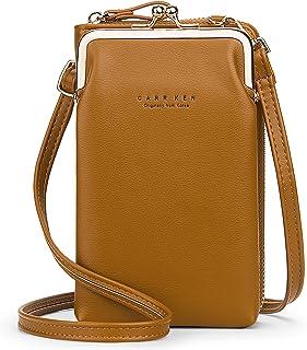 ZYLDK Umhängetasche Handy Damen Brieftasche Cross-Body Tasche PU Leder Geldbörse Verstellbar Schultergurt mit Kartenfächer...