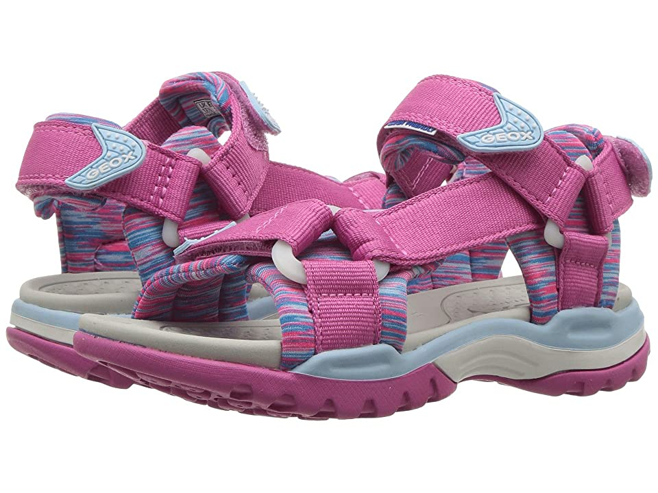Geox Kids Borealis 7 (Toddler/Little Kid) (Fuchsia/Sky) Girl
