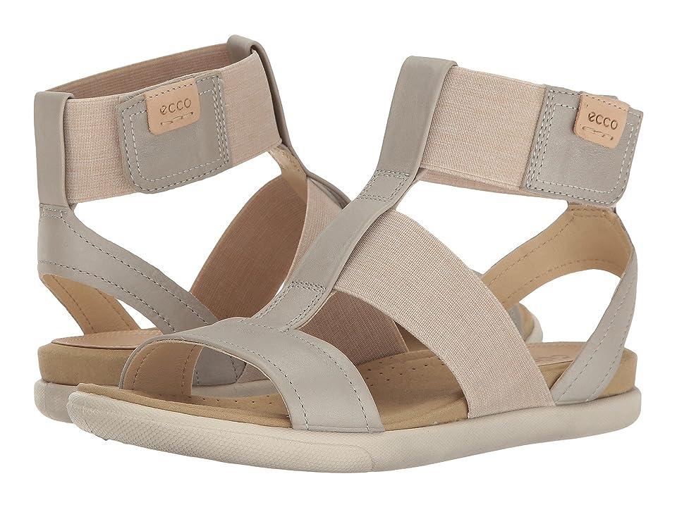 ECCO Damara Ankle Strap Sandal (Gravel/Powder Cow Nubuck) Women