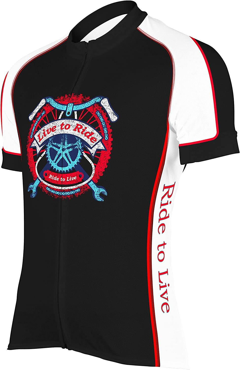 Live to Ride Men's Cycling Short Sleeve Bike Jersey