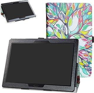 Lenovo Tab M10 HD /P10 Tablet Case,Bige PU Leather Folio 2-Folding Stand Cover for Lenovo Tab M10 HD (TB-X505F,TB-X605F) /...