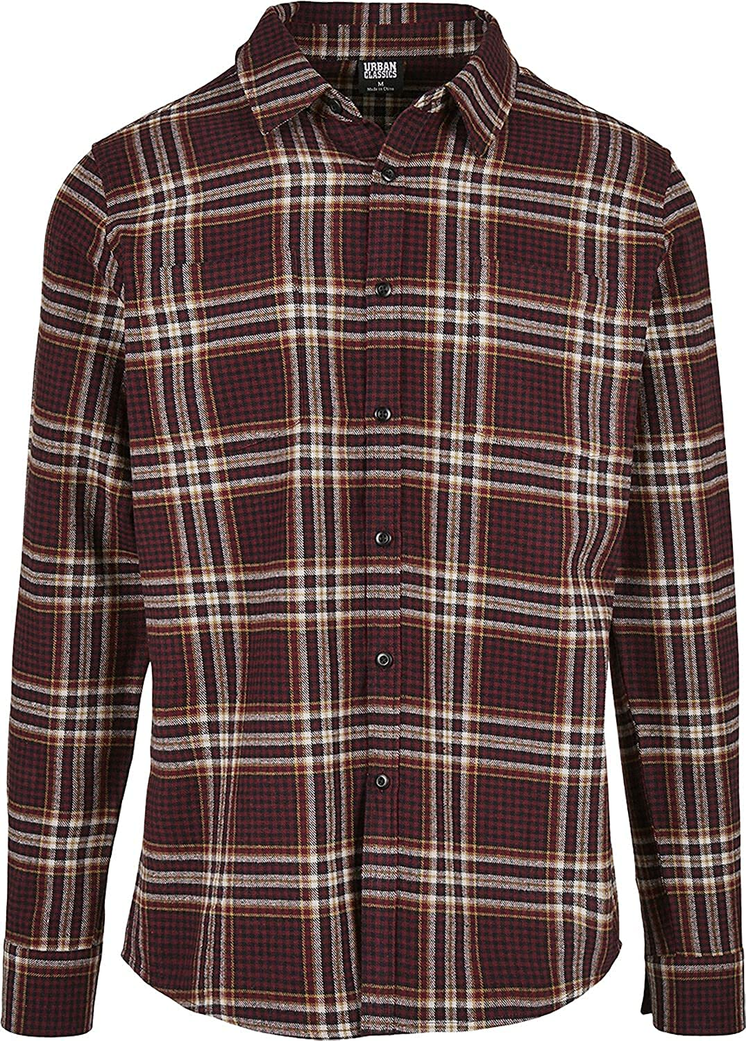 Urban Classics - Checked Flanell Campus Button Up