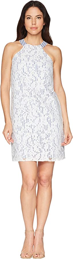 Maggy London Breezy Leaf Lace Shift Dress
