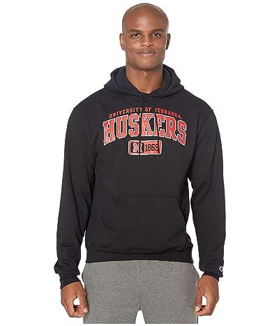 Champion College Nebraska Cornhuskers Eco(r) Powerblend(r) Hoodie (Black 2) Men