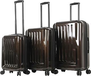 Mia Toro Mia Tor Italy Fonte Hardside Spinner Luggage 3pc Set, Gold (Gold) - M1231-03PC-GLDNL