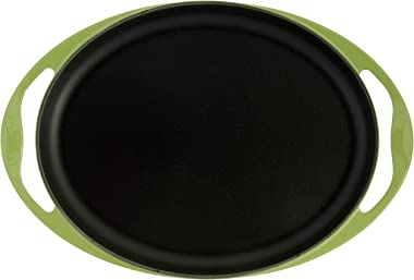 "Le Creuset Enameled Cast Iron Oval Skinny Griddle, 12.25"", Palm"
