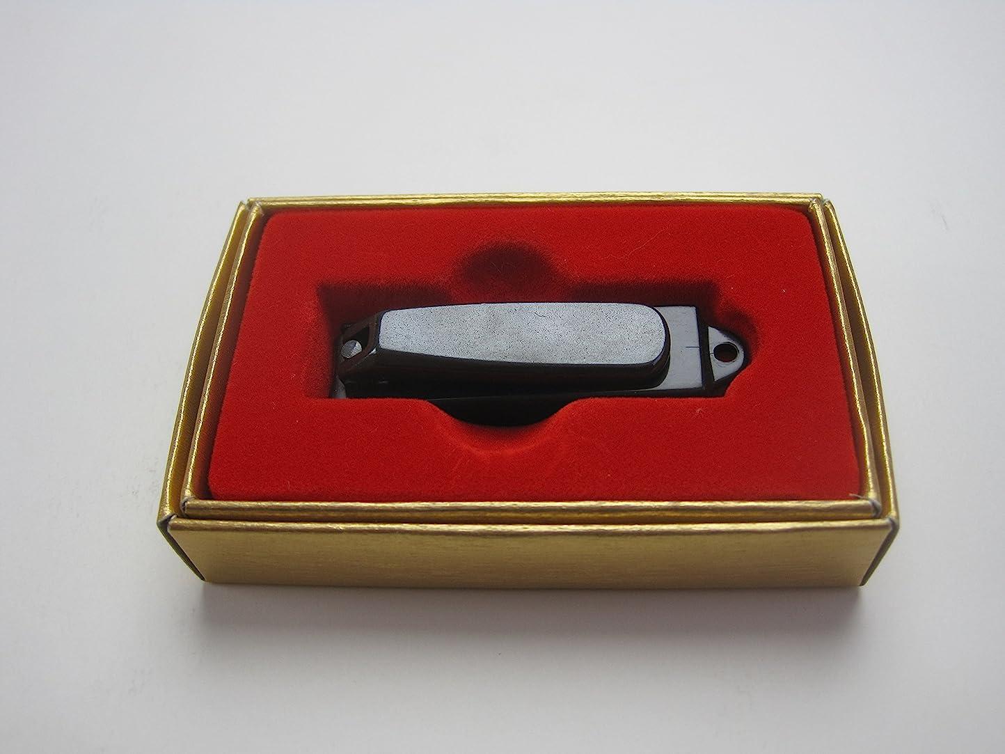 花輪ハンバーガー名前で和製ブラック爪切り 小 カバー付 121BC