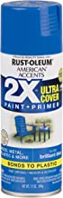 Rust-Oleum 327892 American Accents Spray Paint, 12 oz, Gloss Brilliant Blue