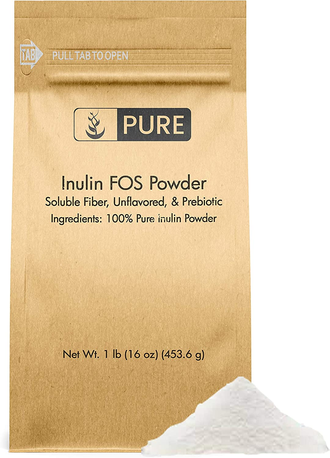 100% Pure Inulin mart FOS Powder 1 2600 mart Serving lb mg Unflavored