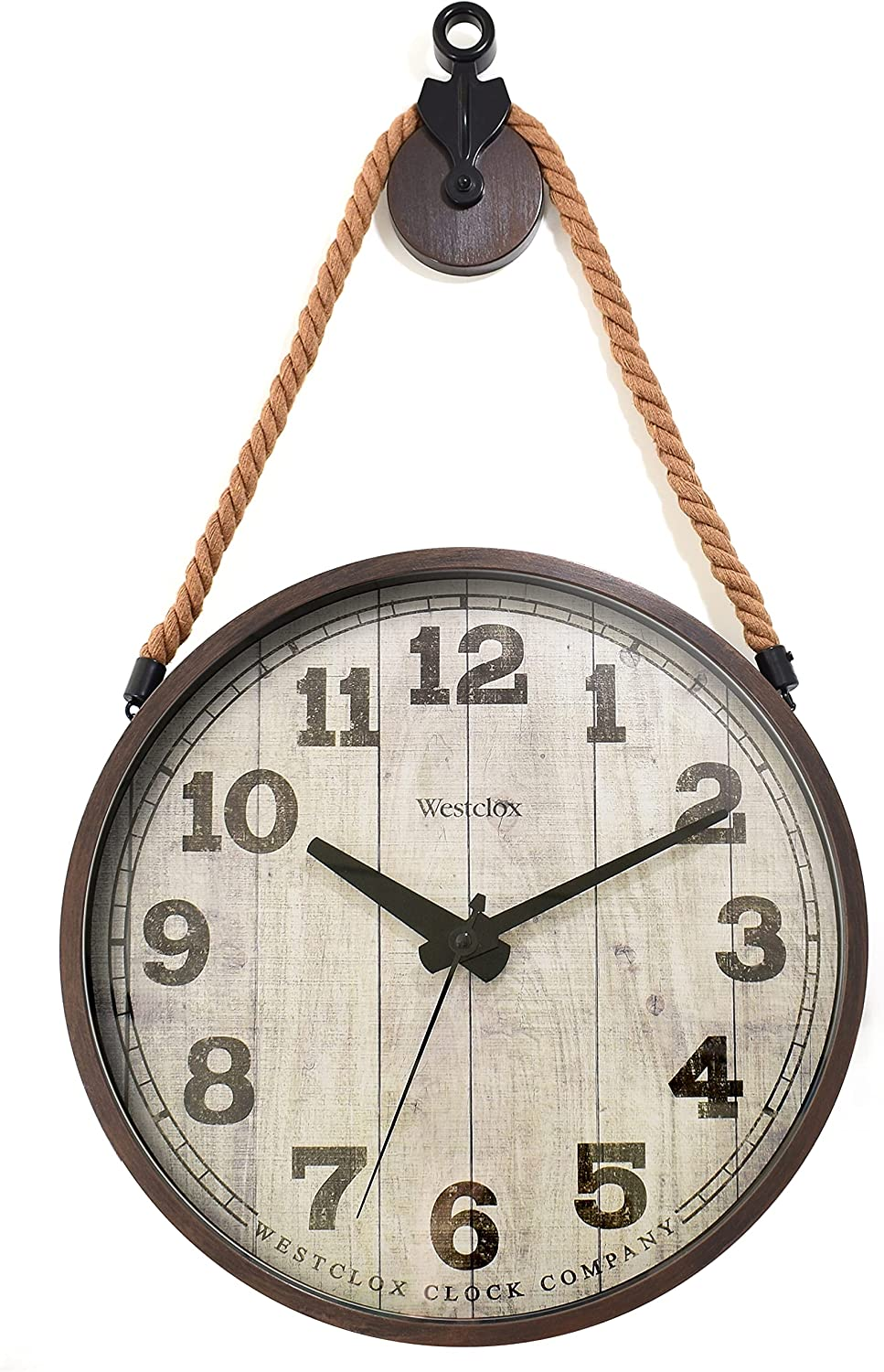 Westclox 14 in. Hanging Pulley Wall Office Clock Super sale period limited Be Gorgeous or Home for