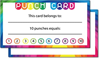 Avamie 240 Pack Punch Cards, Incentive Loyalty Reward Card for Classroom, Business, Kids, Students, Teachers, 3.5x2 inch