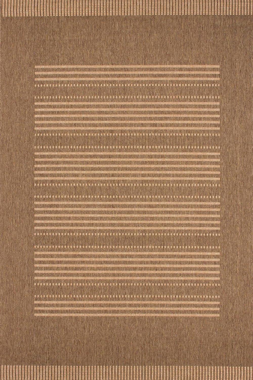 Teppich Sisal Optik klassisch  Mediteran Design Streifen Muster geflochten