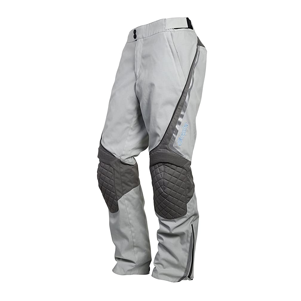 ScorpionExo XDR Zion Women's Textile Adventure Touring Motorcycle Pants (Grey, X-Small)