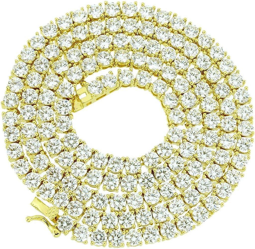 NEW 1 Row Tennis Necklace 18-30 inch Finish 14k 出群 人気ブランド多数対象 Created Gold Lab