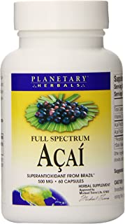 Planetary Herbals Full Spectrum Acai Extract Capsules, 500 mg, 60 Count