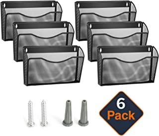 Samstar 6 Pack Mesh Wall Mounted File Holder Metal Wall File Pocket Organizer for Office/Home …
