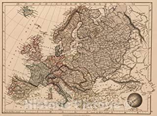 map of europe 1825