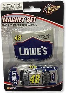 Winner's Circle Magnet Set Dale Earnhardt Jr Jimmie Johnson Car Hood Magnets