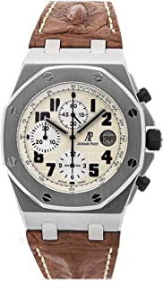 Audemars Piguet Royal Oak Offshore Mechanical (Automatic) Beige Dial Mens Watch 26020ST.OO.D091CR.01.A (Certified Pre-Owned)