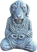 Generic Resin Meditating Buddha Dog Figurine Monk Feng Shui Sculpture 12.7x10cm, Garden Decor