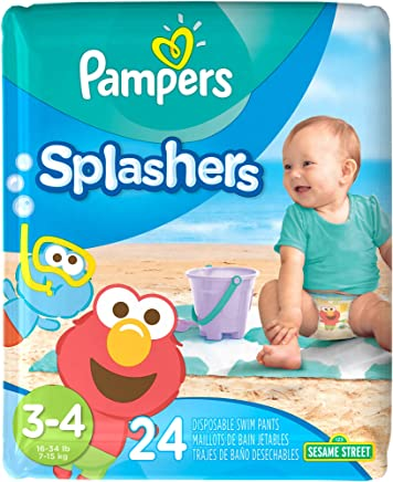 Pampers Splashers Diaper Sesame Street - Size 3-4 - 24 ct