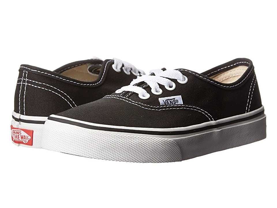 Vans Kids Authentic (Little Kid/Big Kid) (Black/True White) Kids Shoes