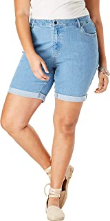 Roamans Women's Plus Size Cuffed Denim Short
