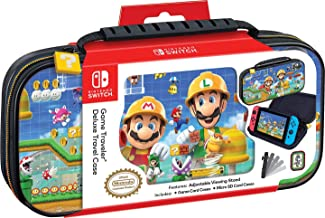 Officially Licensed Nintendo Switch Super Mario Maker 2 Carrying Case - Protective Deluxe Hard Shell Travel Case with Adju...