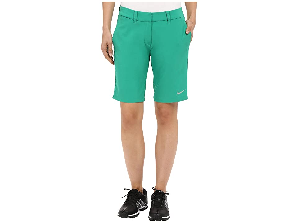 Nike Golf Bermuda Shorts Solid (Lucid Green/Metallic Silver) Women