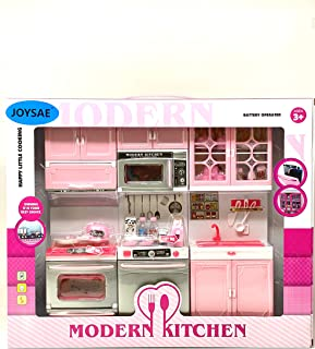 JOYSAE Doll Playsets My Modern Kitchen Full Deluxe Kit with Lights and Sounds(3PCS), (Style 2)