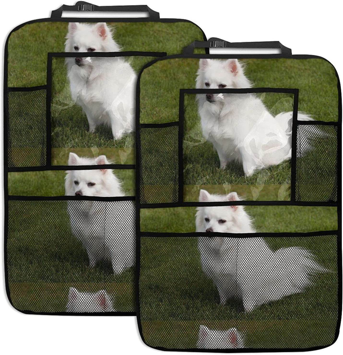 American Eskimo Recommended Dog Car Free shipping anywhere in the nation Seat Back Multi Organizer Function S